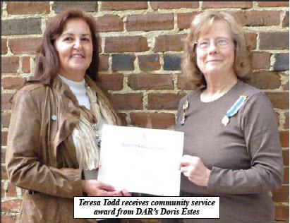 Teresa Todd - Community Service Award