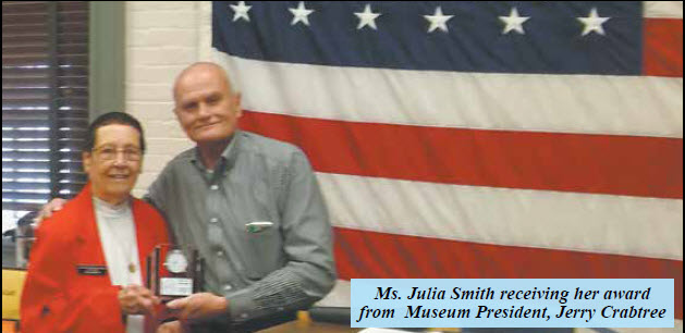 Congratulations To Our Volunteer Of The Year, Ms. Julia Smith!