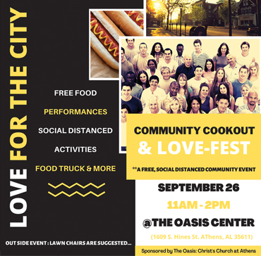 Save September 26  For The Love For The City Cookout & Love-Fest
